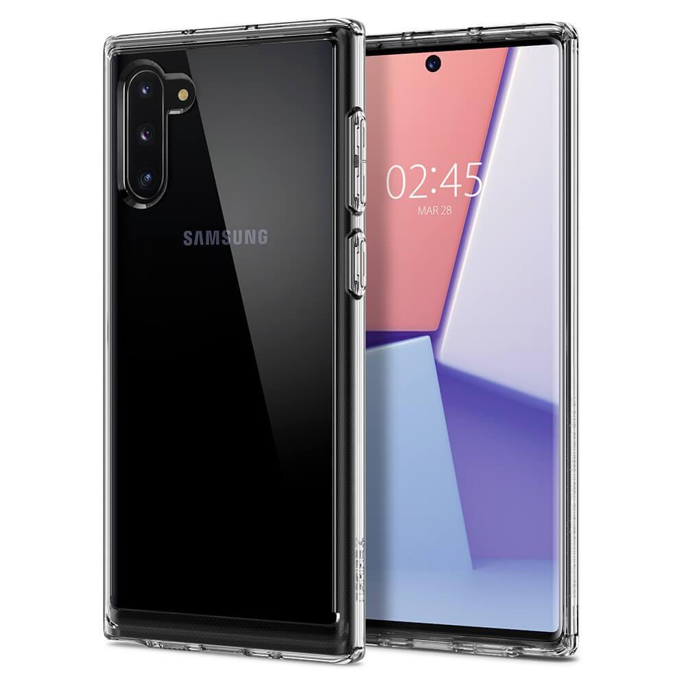 Spigen Crystal Hybrid Case — хибриден кейс с висока степен на защита за Samsung Galaxy Note 10 (прозрачен) - 1