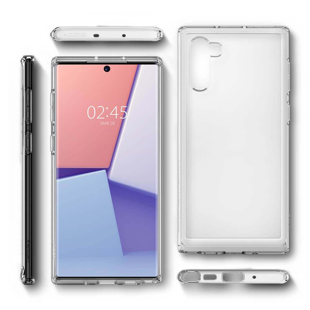 Spigen Crystal Hybrid Case — хибриден кейс с висока степен на защита за Samsung Galaxy Note 10 (прозрачен) - 4