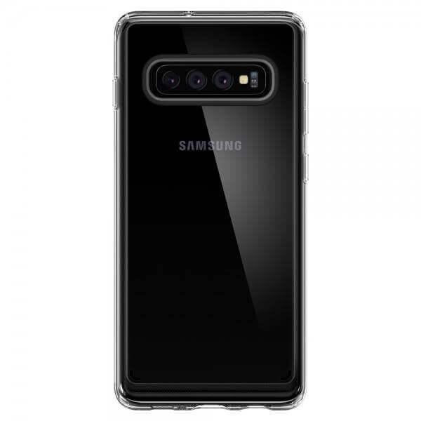 Spigen Crystal Hybrid Case — хибриден кейс с висока степен на защита за Samsung Galaxy S10 (прозрачен) - 2