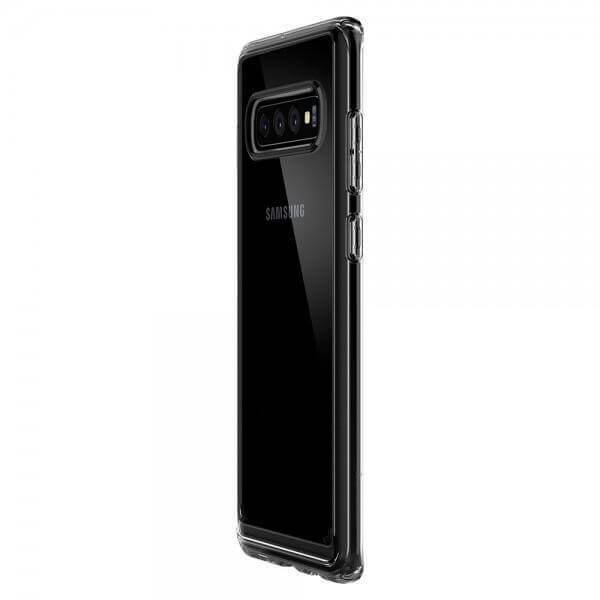 Spigen Crystal Hybrid Case — хибриден кейс с висока степен на защита за Samsung Galaxy S10 (прозрачен) - 5