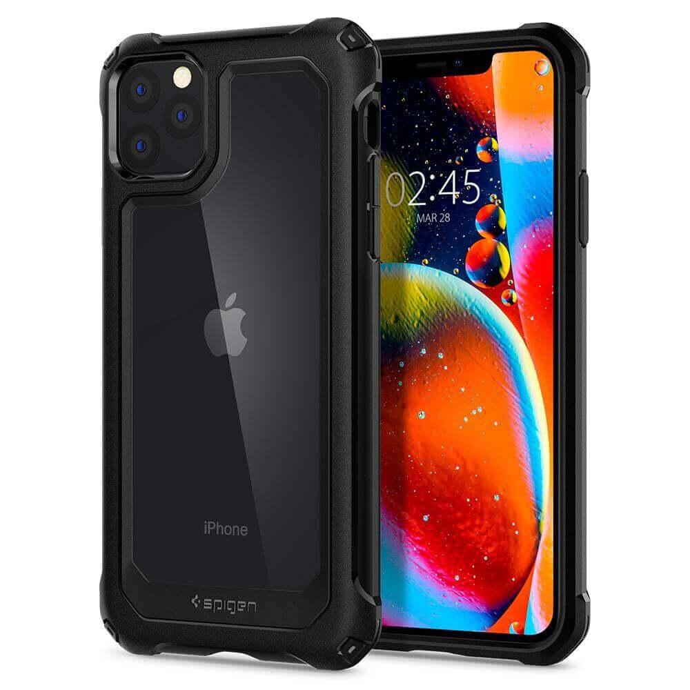 Spigen Gauntlet Case — хибриден кейс с висока степен на защита за iPhone 11 Pro (черен) - 1