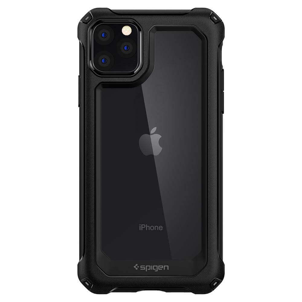 Spigen Gauntlet Case — хибриден кейс с висока степен на защита за iPhone 11 Pro (черен) - 2