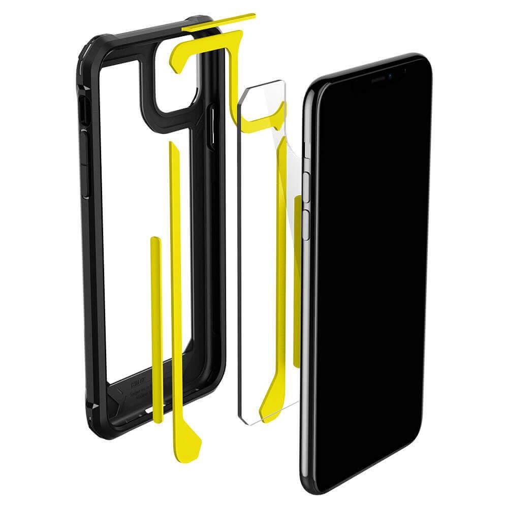 Spigen Gauntlet Case — хибриден кейс с висока степен на защита за iPhone 11 Pro (черен) - 3