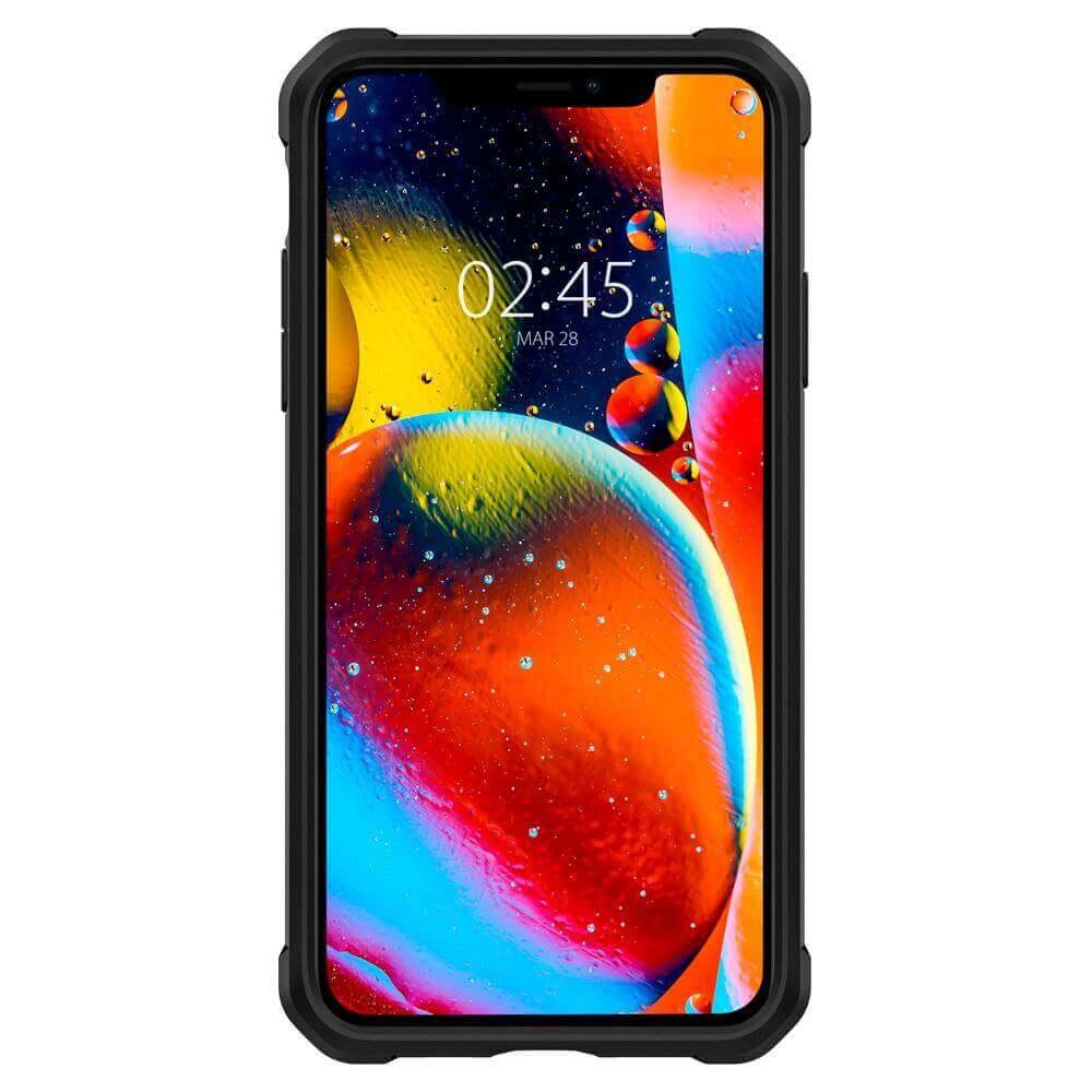 Spigen Gauntlet Case — хибриден кейс с висока степен на защита за iPhone 11 Pro Max (черен) - 5