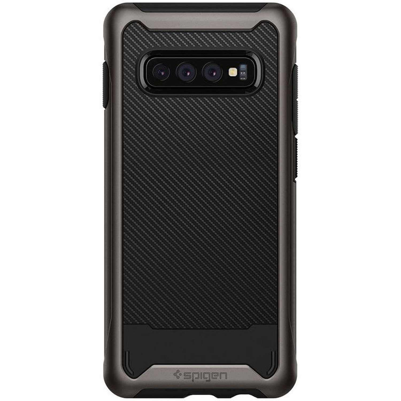 Spigen Hybrid NX Case — хибриден кейс с висока степен на защита за Samsung Galaxy S10 (тъмносив) - 1