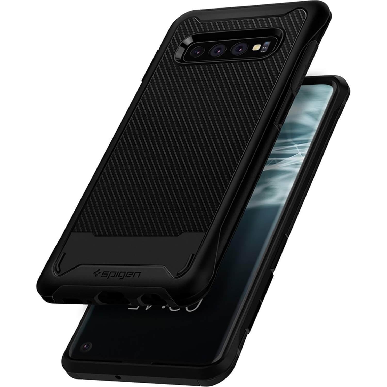 Spigen Hybrid NX Case — хибриден кейс с висока степен на защита за Samsung Galaxy S10 (тъмносив) - 5