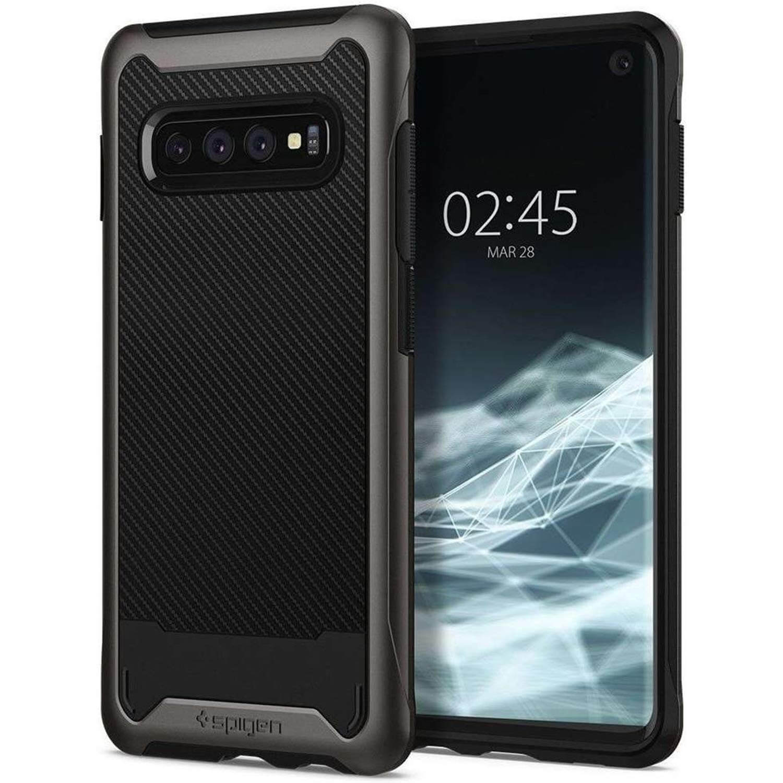 Spigen Hybrid NX Case — хибриден кейс с висока степен на защита за Samsung Galaxy S10 (тъмносив) - 2