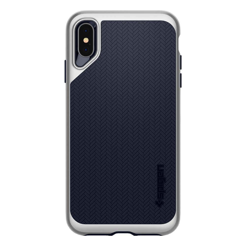 Spigen Neo Hybrid Case — хибриден кейс с висока степен на защита за iPhone XS Max (сребрист)  - 2