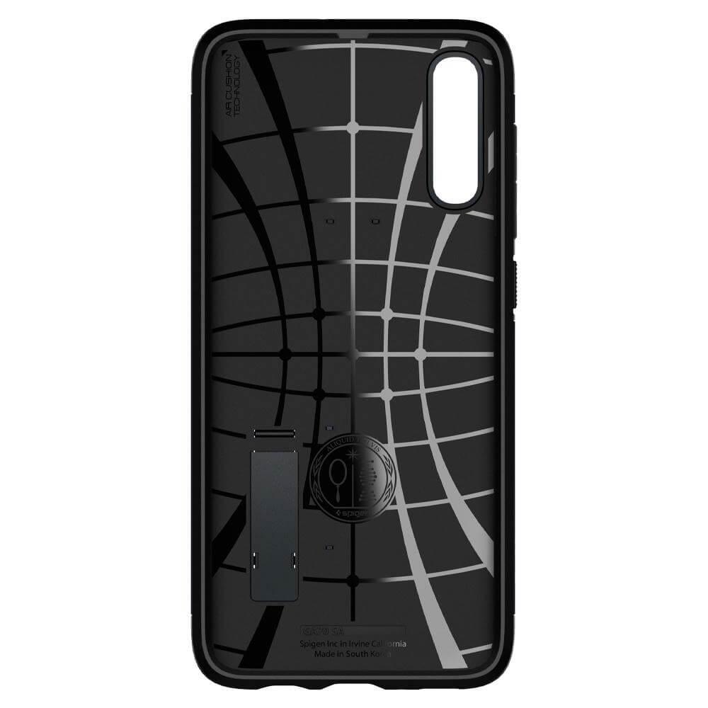 Spigen Slim Armor Case — хибриден кейс с най-висока степен на защита за Samsung Galaxy A70 (тъмносив) - 5
