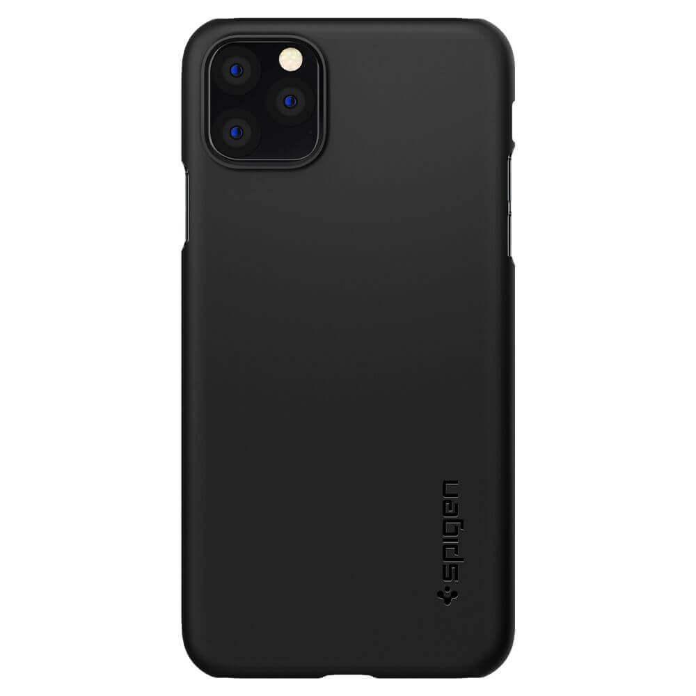 Spigen Thin Fit Case — качествен тънък матиран кейс за iPhone 11 Pro (черен) - 2