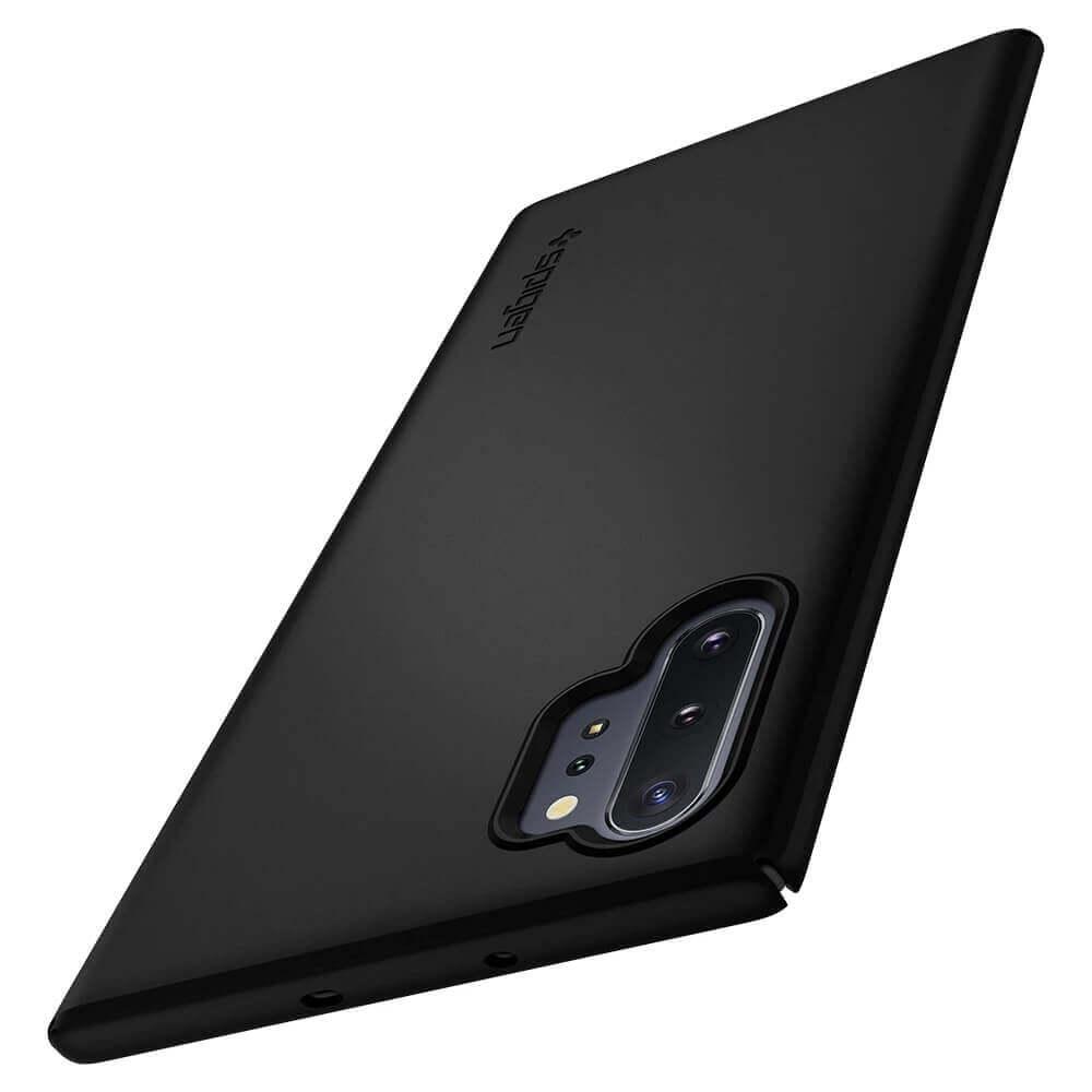 Spigen Thin Fit Case — качествен тънък матиран кейс за Samsung Galaxy Note 10 Plus (черен) - 2