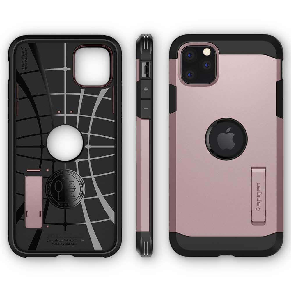 Spigen Tough Armor Case — хибриден кейс с най-висока степен на защита за iPhone 11 Pro (розов) - 5