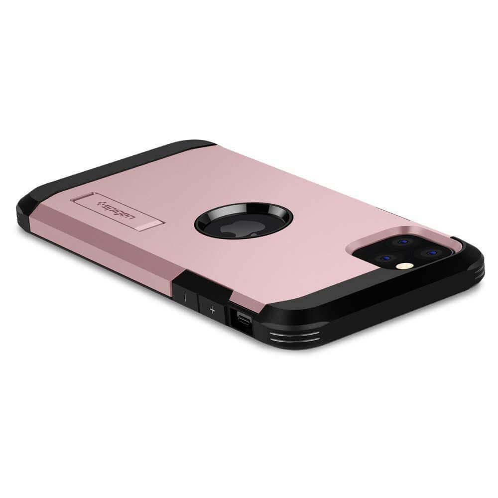 Spigen Tough Armor Case — хибриден кейс с най-висока степен на защита за iPhone 11 Pro (розов) - 2