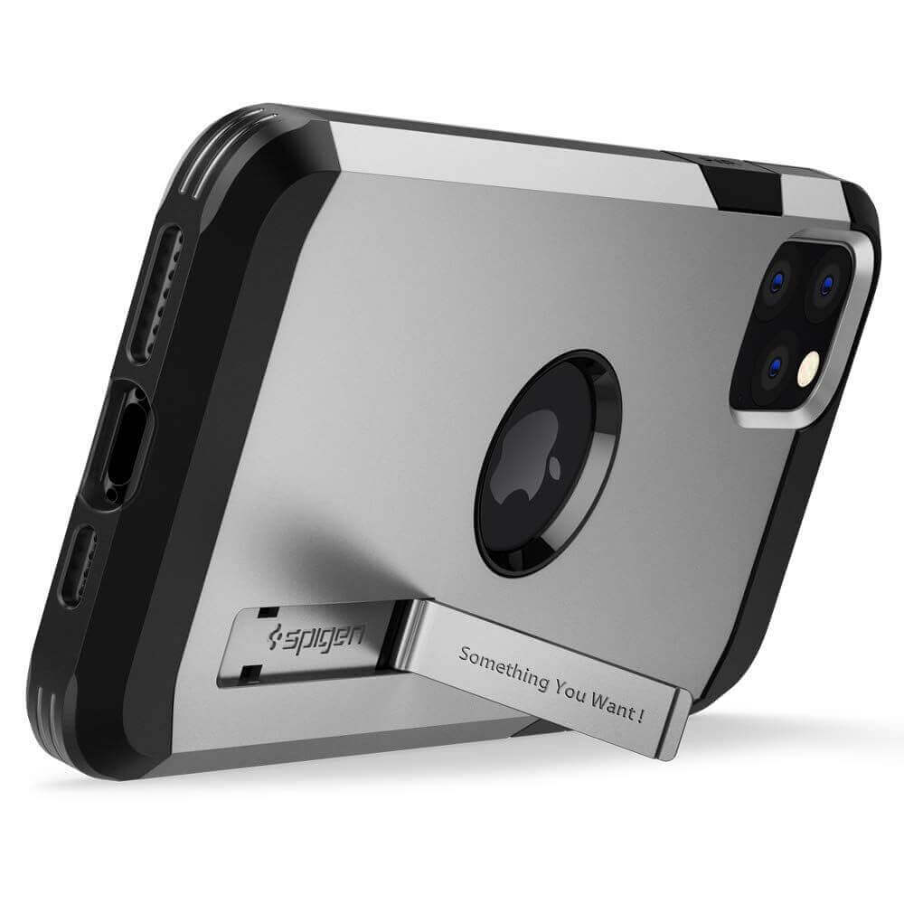 Spigen Tough Armor Case — хибриден кейс с най-висока степен на защита за iPhone 11 Pro (сребрист) - 2
