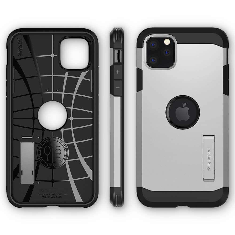 Spigen Tough Armor Case — хибриден кейс с най-висока степен на защита за iPhone 11 Pro (сребрист) - 4