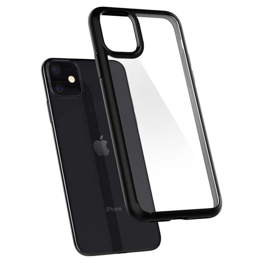 Spigen Ultra Hybrid Case — хибриден кейс с висока степен на защита за iPhone 11 (черен) - 2