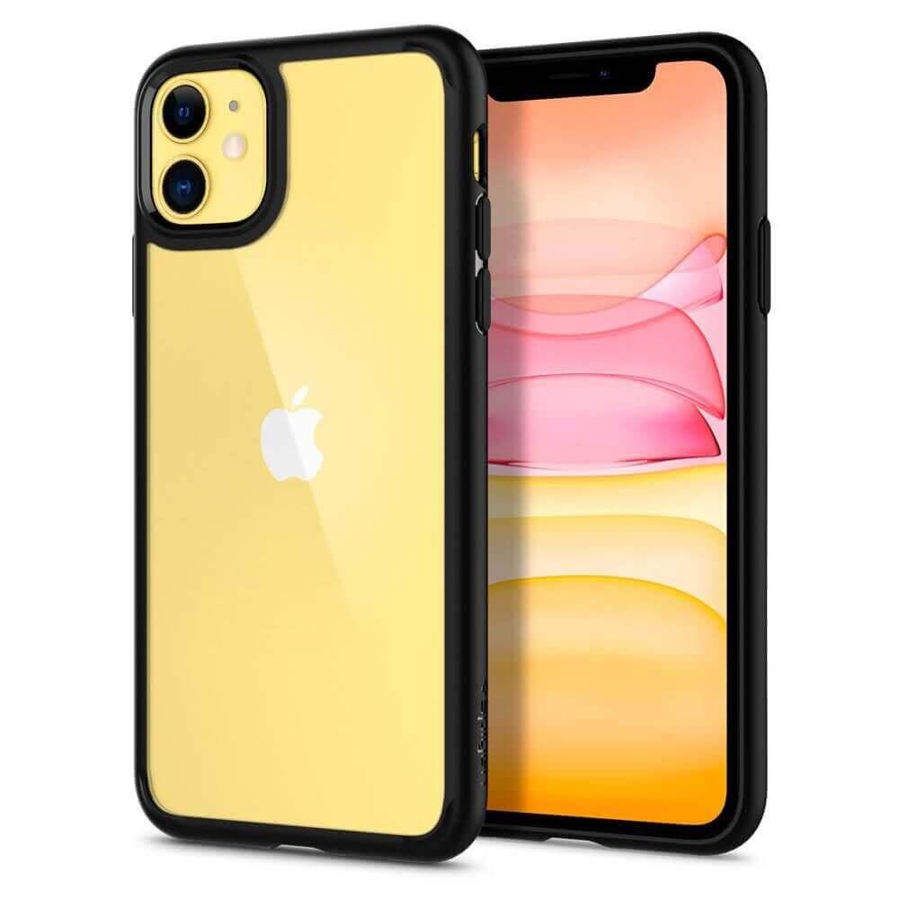 Spigen Ultra Hybrid Case — хибриден кейс с висока степен на защита за iPhone 11 (черен) - 5