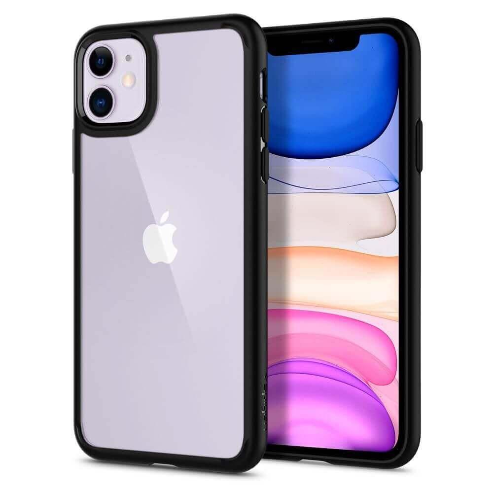 Spigen Ultra Hybrid Case — хибриден кейс с висока степен на защита за iPhone 11 (черен) - 3