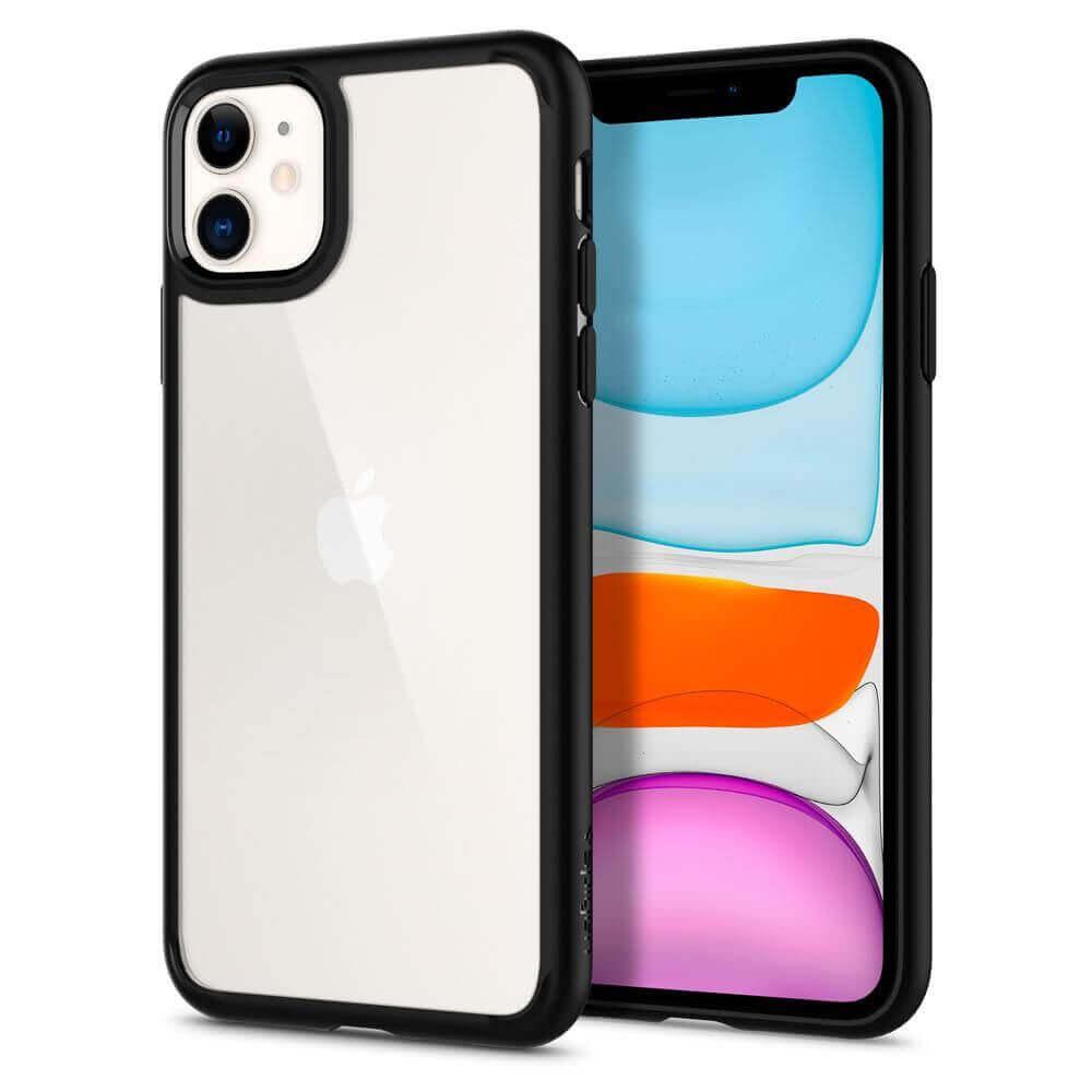 Spigen Ultra Hybrid Case — хибриден кейс с висока степен на защита за iPhone 11 (черен) - 4