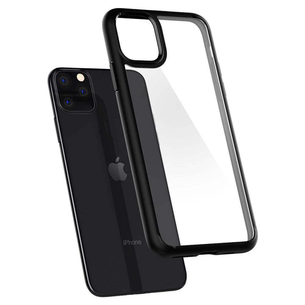 Spigen Ultra Hybrid Case — хибриден кейс с висока степен на защита за iPhone 11 Pro Max (черен) - 2