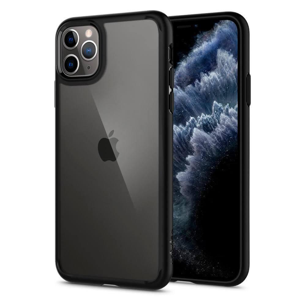 Spigen Ultra Hybrid Case — хибриден кейс с висока степен на защита за iPhone 11 Pro Max (черен) - 1