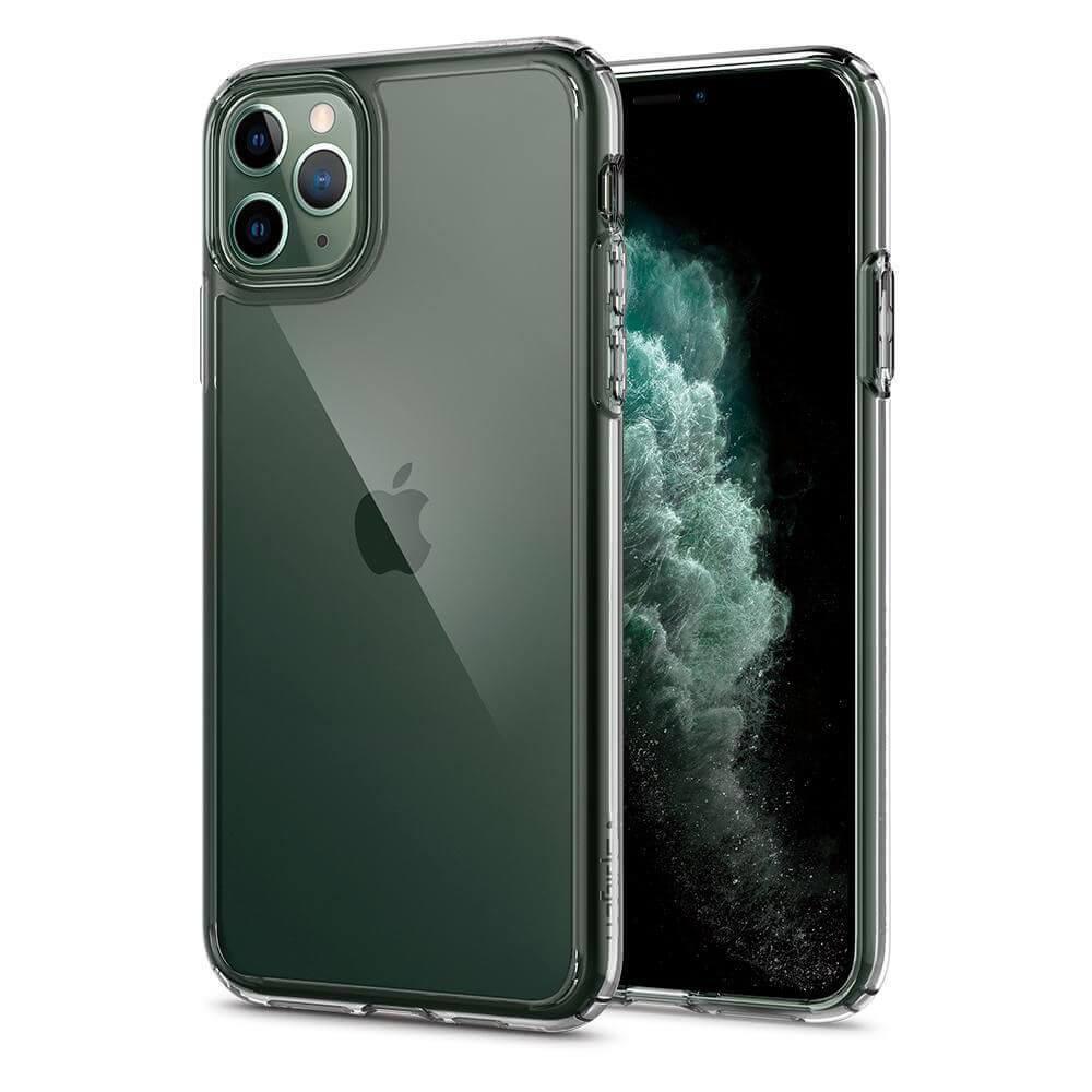 Spigen Ultra Hybrid Case — хибриден кейс с висока степен на защита за iPhone 11 Pro Max (прозрачен) - 1