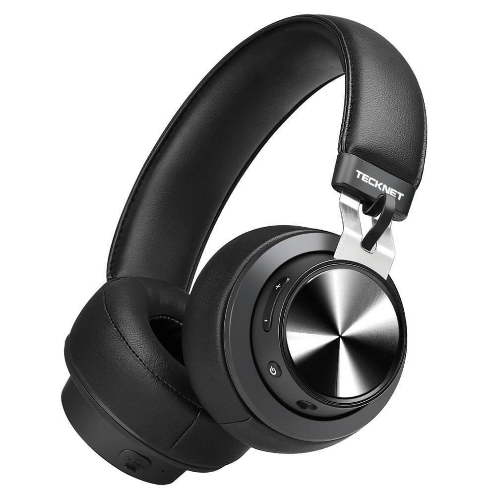 TeckNet BH10922 Bluetooth Headphones — безжични блутут слушалки с микрофон за мобилни устройства (черен) - 1