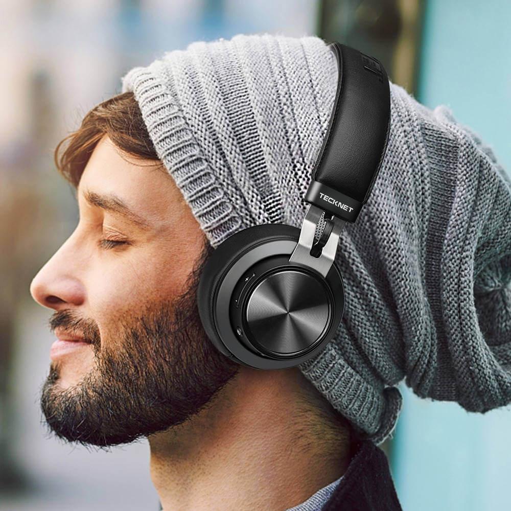 TeckNet BH10922 Bluetooth Headphones — безжични блутут слушалки с микрофон за мобилни устройства (черен) - 5
