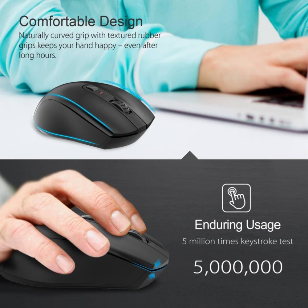 TeckNet M106 Wireless Mouse — ергономична безжична мишка (за Mac и PC) - 5