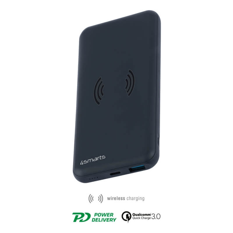 4smarts Inductive Wireless Power Bank VoltHub 10000 mAh with QQC 3.0 & PD