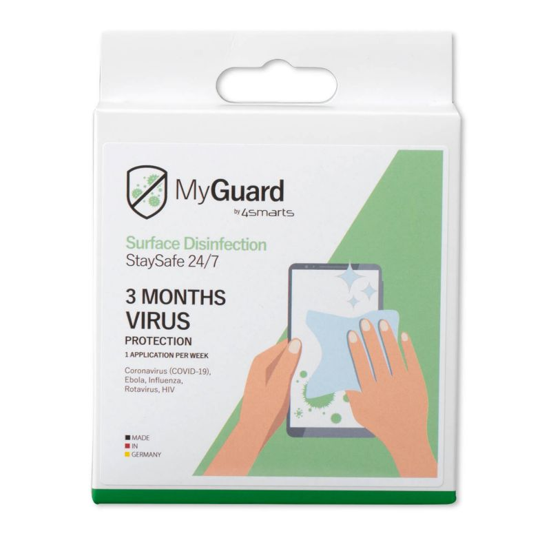 4smarts MyGuard Set of 12 Universal Surface Disinfection StaySafe 24/7
