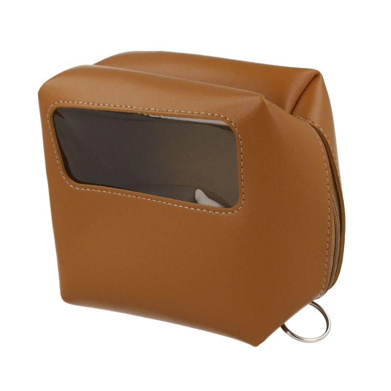 4smarts Packing Leather Pouch - кожен органайзер за кабели, слушалки, ключове и др. (кафяв)