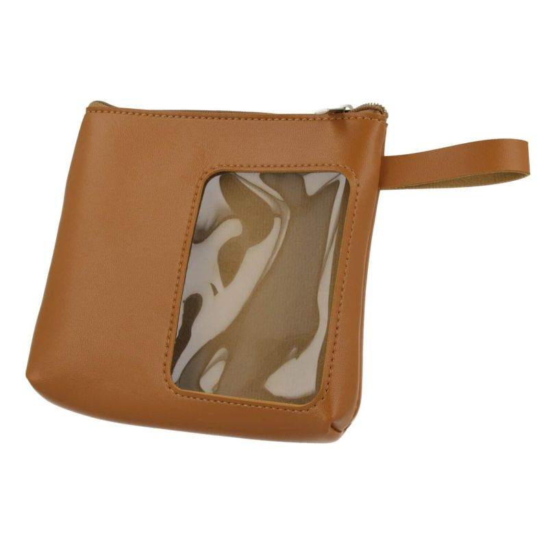4smarts Packing Leather Slim Pouch - кожен органайзер за кабели, слушалки, ключове и др. (кафяв)