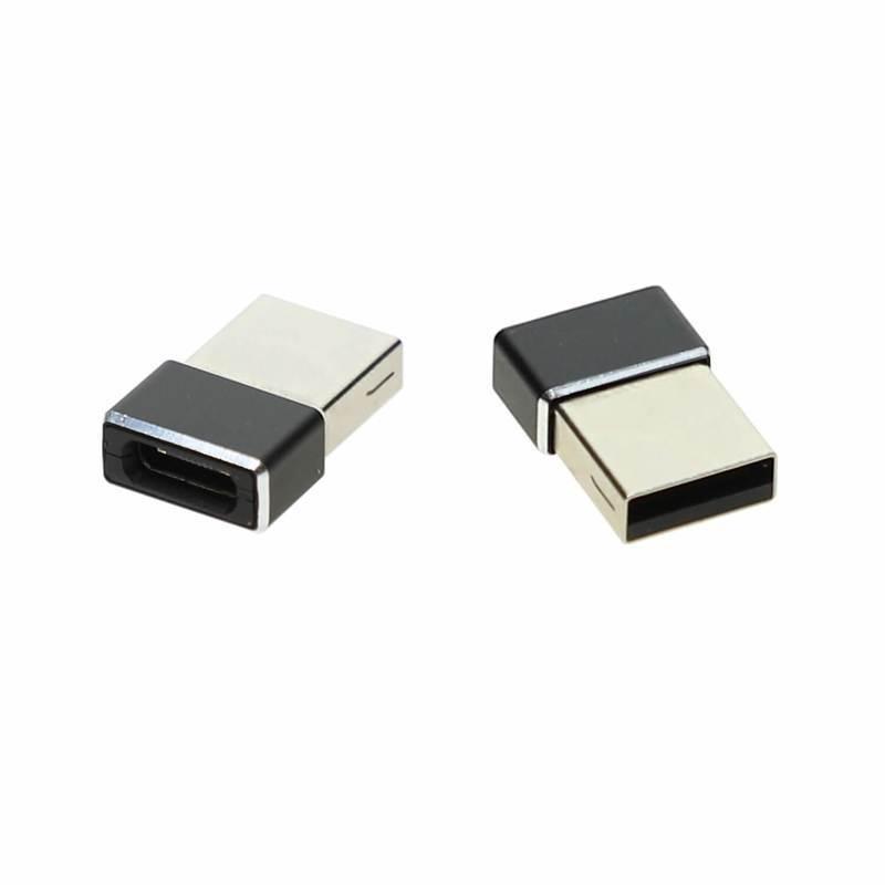 4smarts Passive Adapter USB-A to USB-C - комплект два броя адаптери от USB мъжко към USB-C женско (черен)