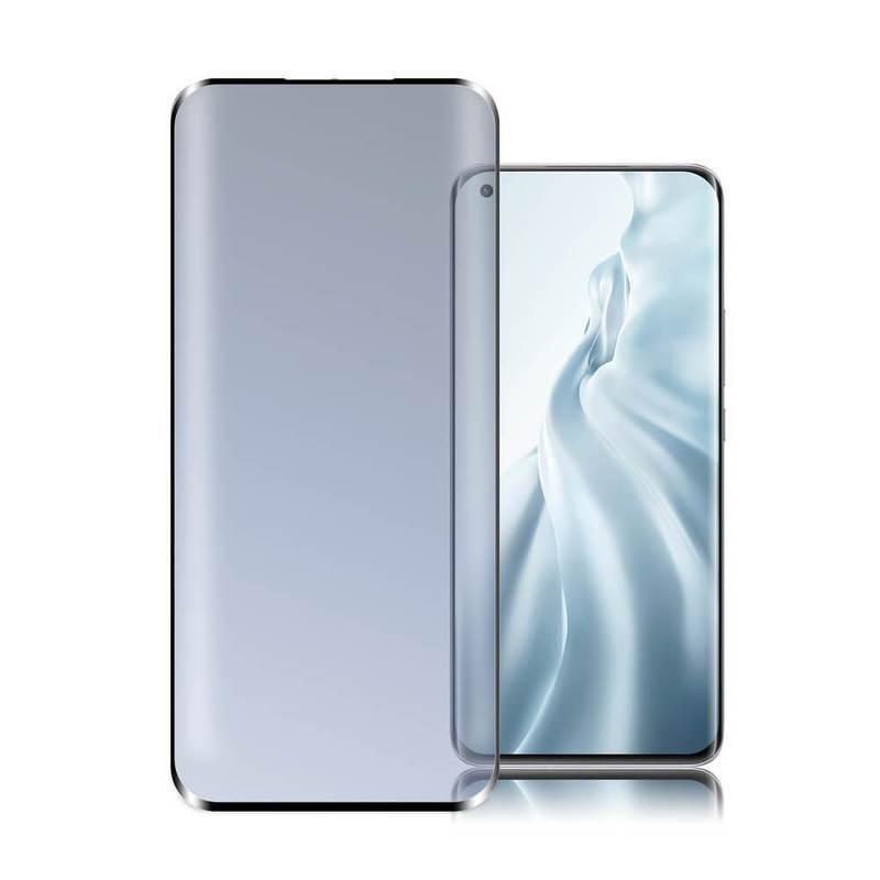 4smarts Second Glass Curved 3D - калено стъклено защитно покритие с извити ръбове за целия дисплей на Xiaomi Mi 11, Mi 11 Pro (черен-прозрачен)