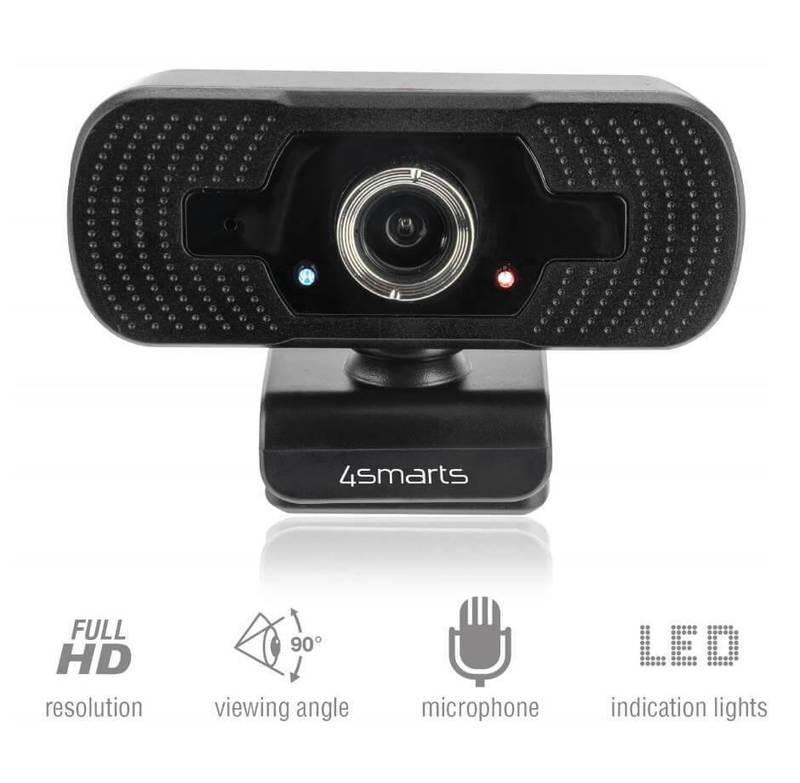 4smarts Webcam C1 Full HD with Microphone - уеб видеокамера 1080p Full HD с микрофон (черен)