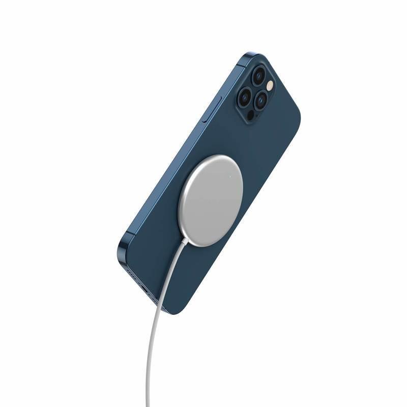 4smarts Wireless Charger UltiMAG 15W with USB-C Cable 1.2m - поставка (пад) за безжично зареждане за iPhone с Magsafe и устройства поддържащи безжично зареждане (бял)
