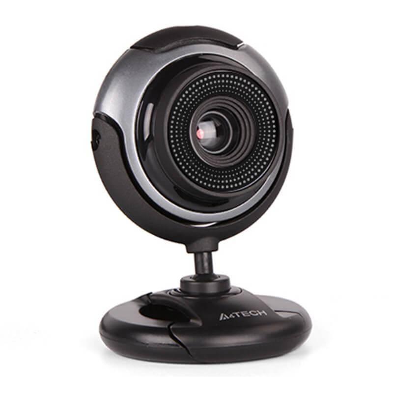 A4Tech PK-710G WebCam - 480p домашна уеб видеокамера с микрофон (черен)