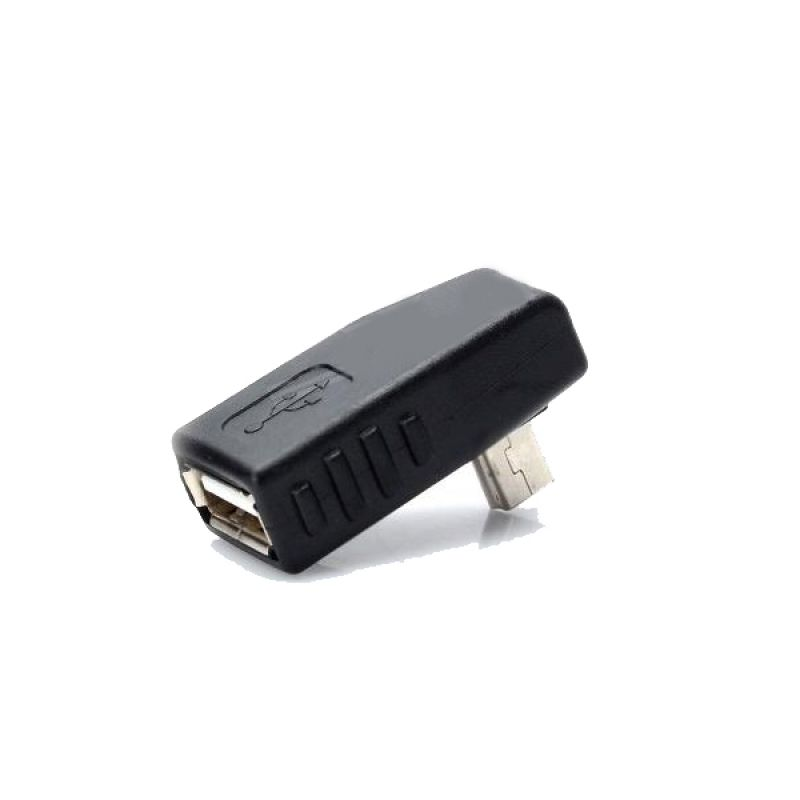 Angled Mini USB OTG Adapter
