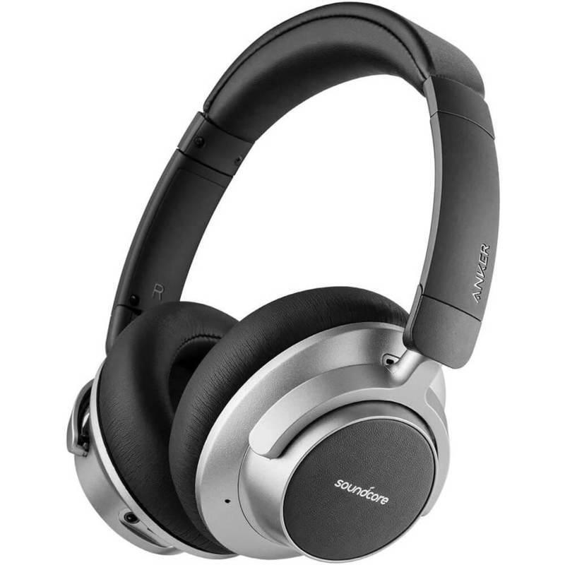 Anker Soundcore Space NC - безжични блутут слушалки с микрофон и технология Space NC за хибридно шумопотискане (черен-сив)