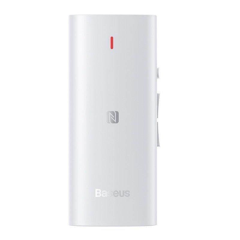 Baseus BA03 Immersive Virtual 3D Bluetooth Receiver - безжичен блутут рисийвър аудио адаптер за слушалки с поддръжка на aptX и 3D съраунд (бял)