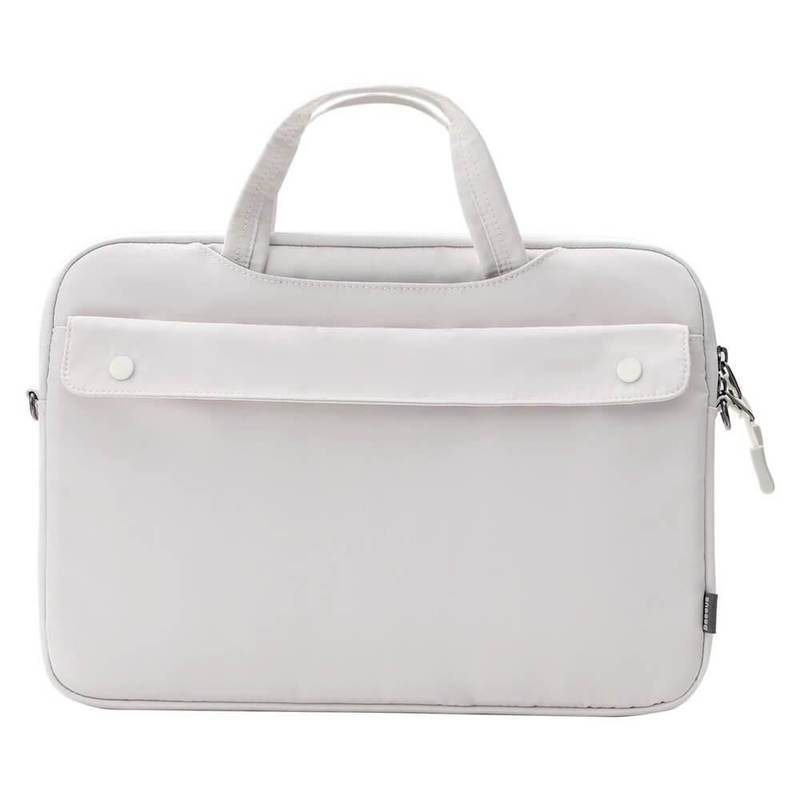 Baseus Basics Series 13 Shoulder Computer Bag (LBJN-G02) - стилна чанта с презрамка за Macbook Pro 13, Air 13 и лаптопи до 13 инча (бял)