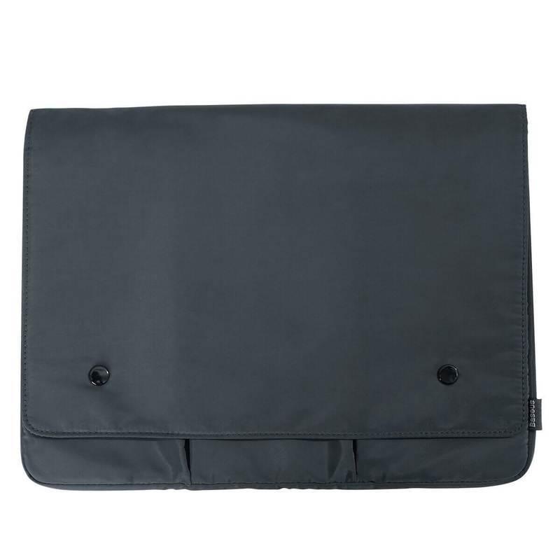 Baseus Basics Series 16 Laptop Sleeve (LBJN-B0G) - стилен калъф за Macbook Pro 16, MacBook Pro 15 и лаптопи до 15.6 инча (тъмносив)