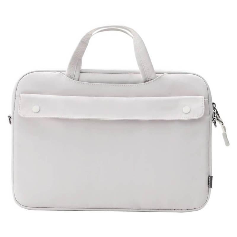 Baseus Basics Series 16 Shoulder Computer Bag (LBJN-H02) - стилна раница за Macbook Pro 16, MacBook Pro 15 и лаптопи до 16 инча (бял)