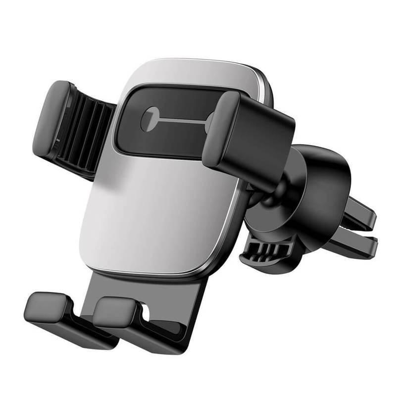 Baseus Cube Gravity Car Vent Mount (SUYL-FK0S) - поставка за радиатора на кола за смартфони с дисплеи до 6.6 инча (сребриста)