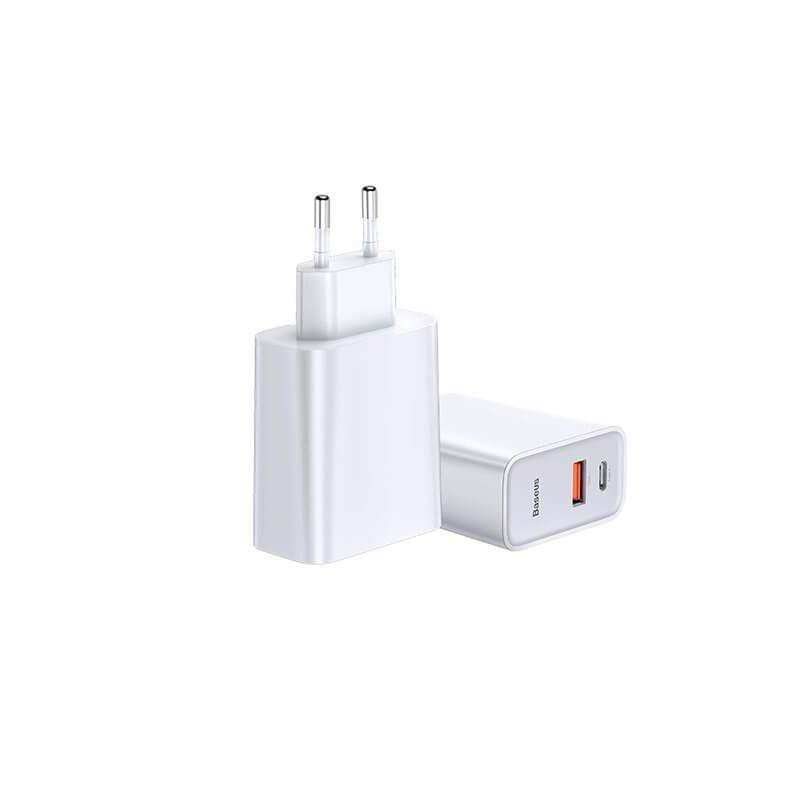 Baseus Dual USB & USB-C QC 3.0 Wall Charger 30W