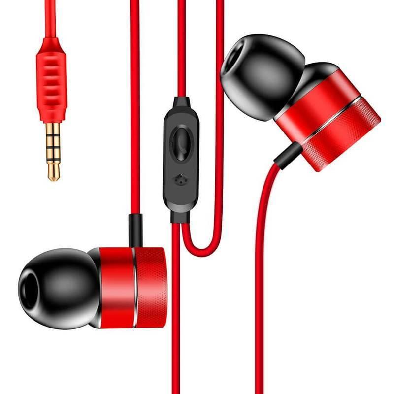 Baseus Encok Wired Earphones H04 - слушалки с микрофон за мобилни устройства (червен)