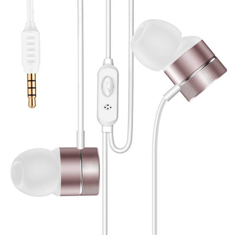 Baseus Encok Wired Earphones H04 - слушалки с микрофон за мобилни устройства (розово злато)