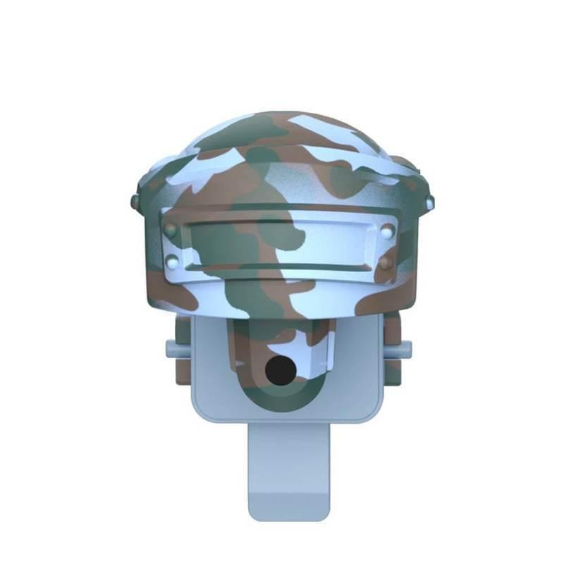 Baseus Level 3 Helmet PUBG Gamepad Joystick - геймпад джойстик за стрелба за PUBG и други игри (син камуфлаж)