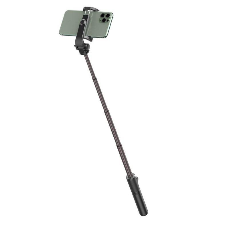 Baseus Lovely Folding Bracket Bluetooth Tripod Selfie Stick - разтегаем безжичен селфи стик и трипод за мобилни телефони (черен)